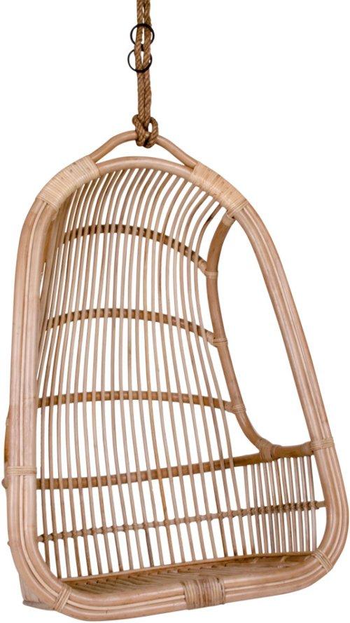 På billedet ser du variationen Risane, hængende stol fra brandet House Nordic i en størrelse H: 120 cm. B: 84 cm. L: 55 cm. i farven Natur