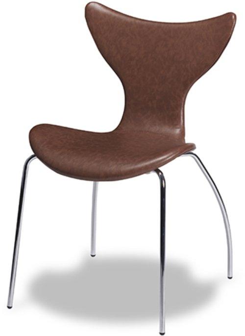 På billedet ser du variationen Stanley, Spisebordsstol, læder fra brandet Raymond & Hallmark i en størrelse H: 85 cm. B: 54 cm. i farven Brun