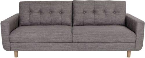 På billedet ser du variationen Lyby, 3 personers sofa fra brandet Nordby i en størrelse H: 83 cm. B: 211 cm. L: 86 cm. i farven Lysegrå