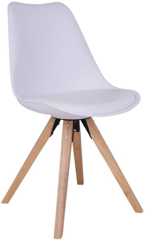 På billedet ser du variationen Kærby, Spisebordsstol fra brandet House Nordic i en størrelse H: 86 cm. B: 48 cm. L: 55 cm. i farven Hvid/Natur