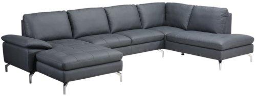 På billedet ser du variationen Alton, U-Sofa, Læder fra brandet Raymond & Hallmark i en størrelse Venstre-vendt i farven Sort