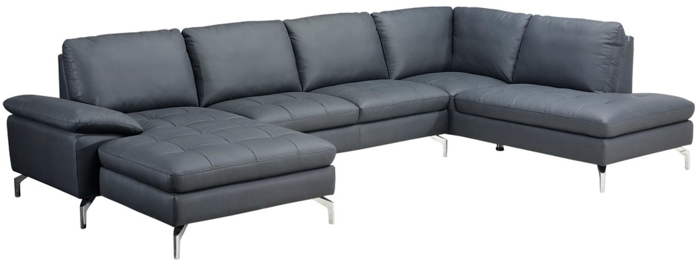 Image of   Alton, U-Sofa, Læder by Raymond & Hallmark (Venstre-vendt, Sort)