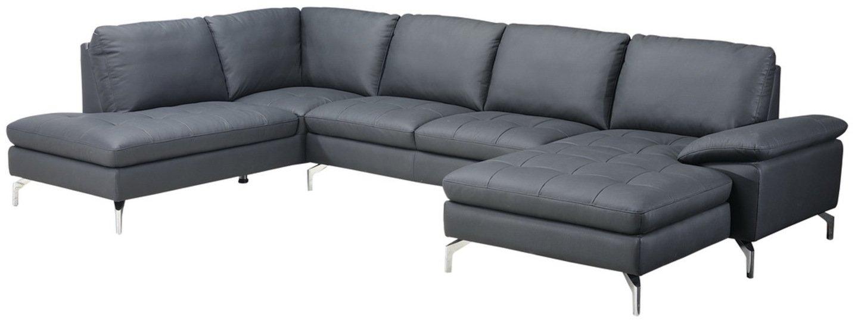 Image of   Alton, U-Sofa, Læder by Raymond & Hallmark (Højre-vendt, Sort)