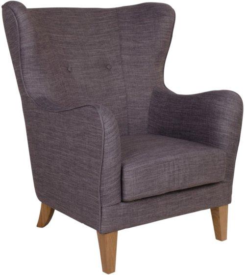 På billedet ser du variationen Campo, lænestol fra brandet Nordby i en størrelse H: 103 cm. B: 87 cm. L: 87 cm. i farven Lysegrå