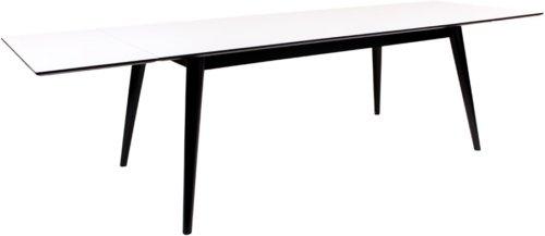 På billedet ser du variationen Vejgaard, Spisebord fra brandet Nordby i en størrelse H: 75 cm. B: 90 cm. L: 195 cm. i farven Hvid/Sort