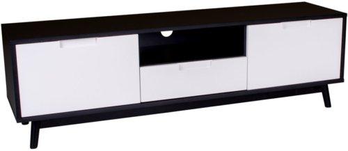 På billedet ser du variationen Vejgaard, Tv-bænk fra brandet Nordby i en størrelse H: 46 cm. B: 150 cm. L: 38 cm. i farven Hvid/Sort