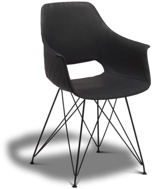 På billedet ser du variationen Hereford, Spisebordsstol, PU-læder fra brandet Raymond & Hallmark i en størrelse H: 85 cm. B: 57 cm. i farven Sort