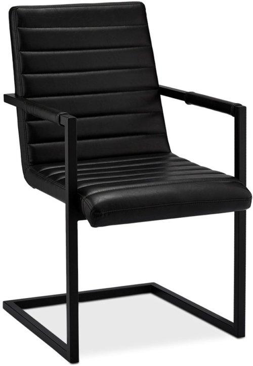 På billedet ser du variationen Prior, Spisebordsstol, PU-læder fra brandet Raymond & Hallmark i en størrelse H: 93 cm. B: 53 cm. i farven Sort