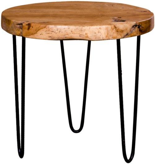 På billedet ser du variationen Ferrol, Teak, Sofabord fra brandet Nordby i en størrelse H: 48 cm. B: 50 cm. L: 50 cm. i farven Natur/Sort