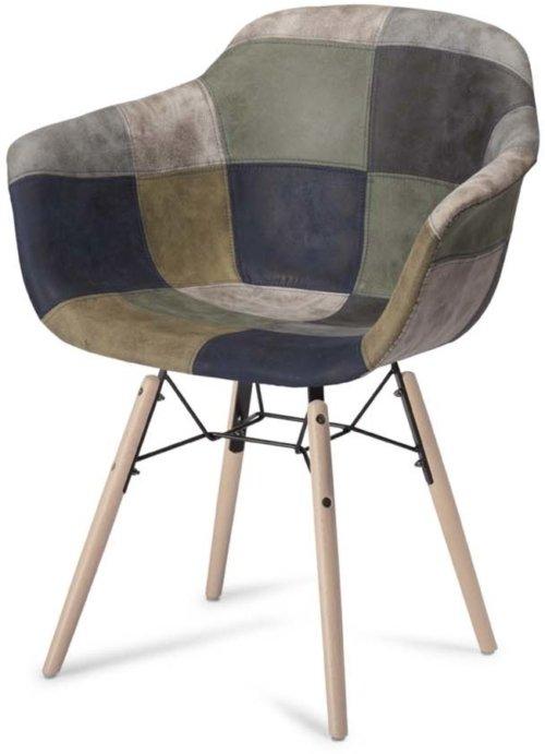 På billedet ser du variationen Kingston, Spisebordsstol, U-sæde fra brandet Raymond & Hallmark i en størrelse H: 80 cm. B: 59 cm. i farven Blå/Grå