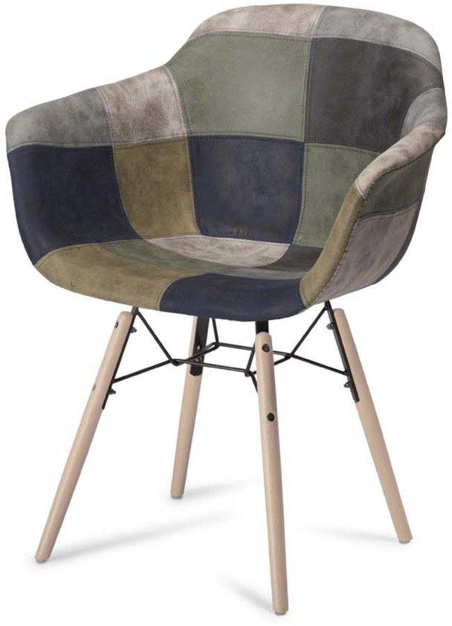 Image of   Kingston, Spisebordsstol, U-sæde by Raymond & Hallmark (H: 80 cm. B: 59 cm., Blå/Grå)