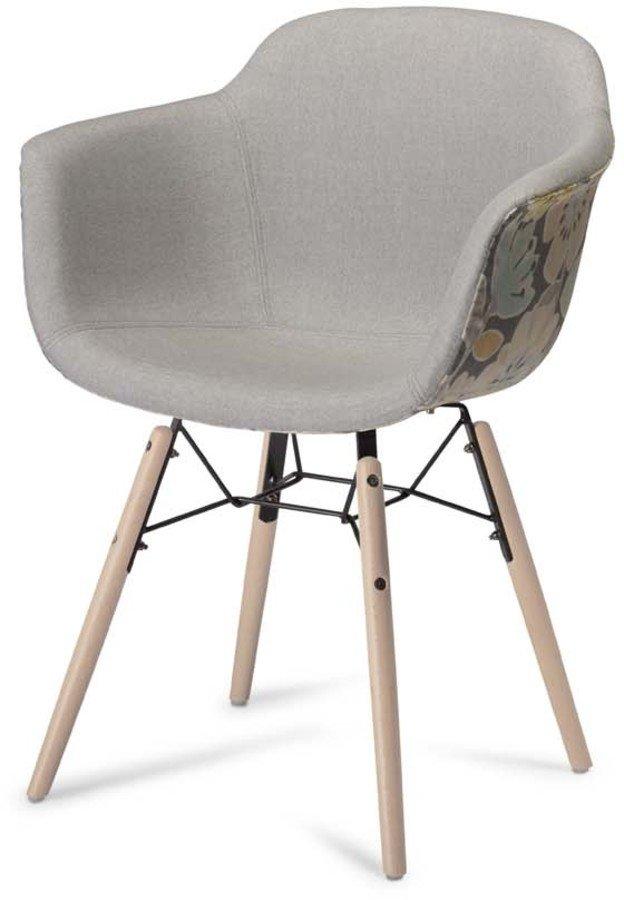 Image of   Kingston, Spisebordsstol, U-sæde by Raymond & Hallmark (H: 80 cm. B: 59 cm., Gul/Grå)