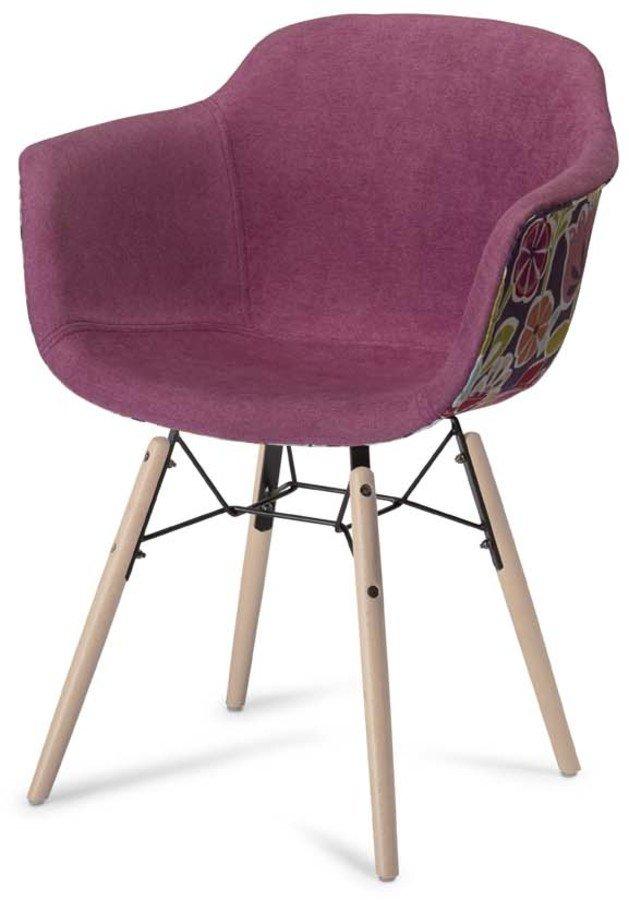 Image of   Kingston, Spisebordsstol, U-sæde by Raymond & Hallmark (H: 80 cm. B: 59 cm., Pink/Lilla)