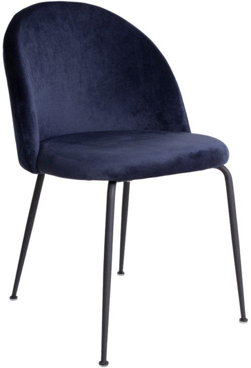 På billedet ser du variationen Spisebordsstol, Jullerup fra brandet House Nordic i en størrelse H: 78 cm. B: 51 cm. L: 52 cm. i farven Blå/Sort