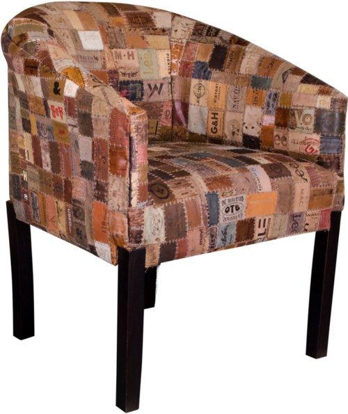 På billedet ser du variationen Flornes, Loungestol fra brandet House Nordic i en størrelse H: 70 cm. B: 70 cm. L: 53 cm. i farven Multi/Sort