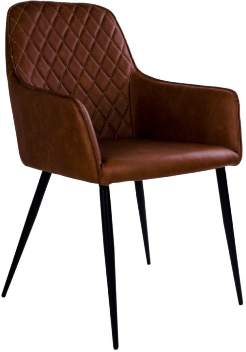 På billedet ser du variationen Krusbjerg, Spisebordsstol fra brandet Nordby i en størrelse H: 87 cm. B: 57 cm. L: 65 cm. i farven Brun