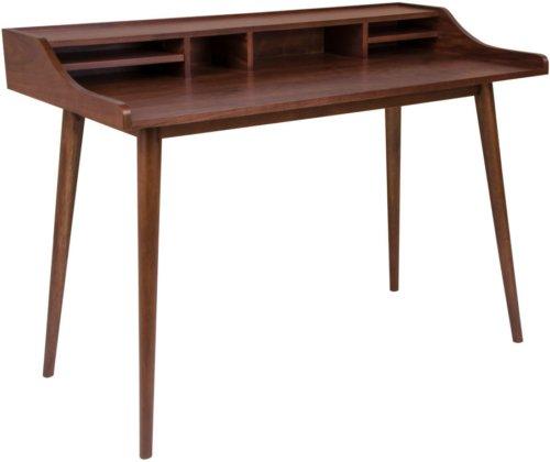 På billedet ser du variationen Hellerup, Skrivebord fra brandet House Nordic i en størrelse H: 88 cm. B: 120 cm. L: 60 cm. i farven Mørk Natur