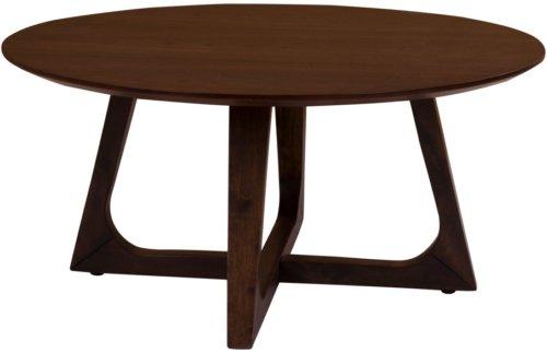 På billedet ser du variationen Hellerup, Sofabord fra brandet House Nordic i en størrelse H: 36 cm. B: 75 cm. L: 75 cm. i farven Mørk Natur