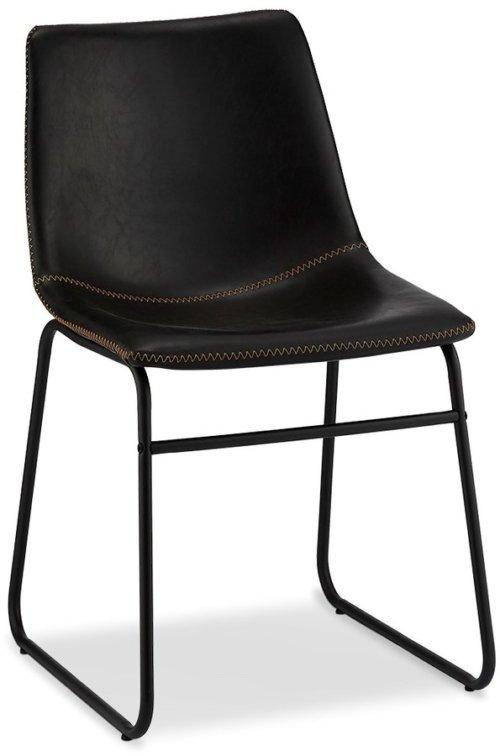 På billedet ser du variationen Kelso, Spisebordsstol, PU-læder m. syninger fra brandet Raymond & Hallmark i en størrelse H: 78 cm. B: 46 cm. i farven Sort