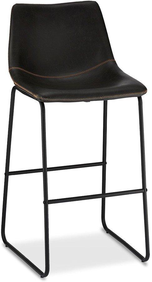 På billedet ser du variationen Kelso, Barstol, PU-læder m. syninger fra brandet Raymond & Hallmark i en størrelse H: 97 cm. B: 46 cm. i farven Sort