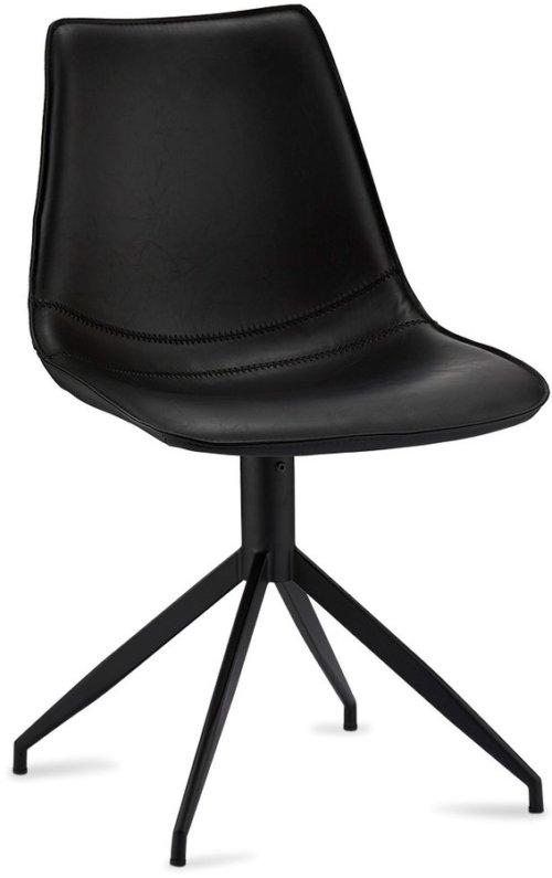 På billedet ser du variationen Montrose, Spisebordsstol, PU-læder fra brandet Raymond & Hallmark i en størrelse H: 85 cm. B: 48 cm. i farven Sort