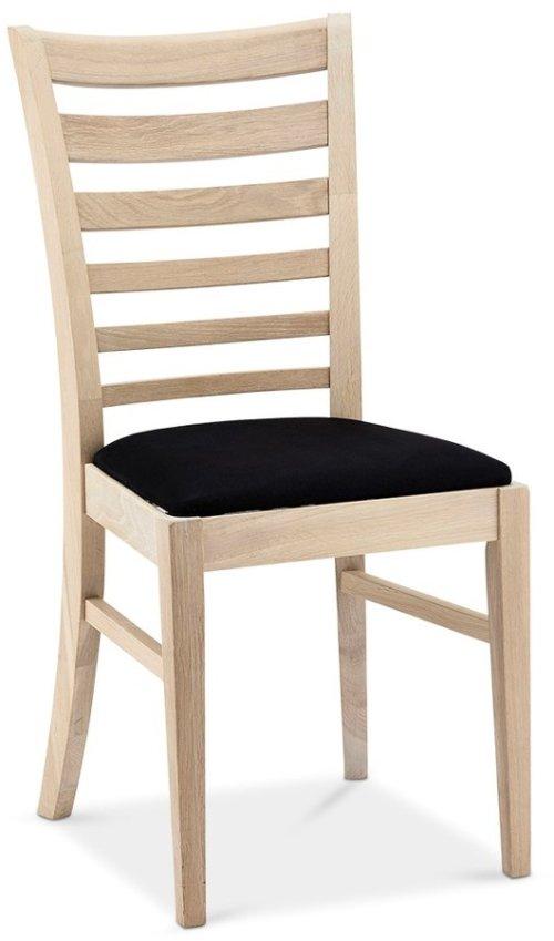 På billedet ser du variationen Alford, Spisebordsstol, Egetræ fra brandet Raymond & Hallmark i en størrelse H: 94 cm. B: 54 cm. i farven Hvidolieret