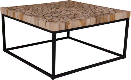 På billedet ser du variationen Knoxville, Sofabord fra brandet House Nordic i en størrelse H: 42 cm. B: 80 cm. L: 80 cm. i farven Natur/Sort