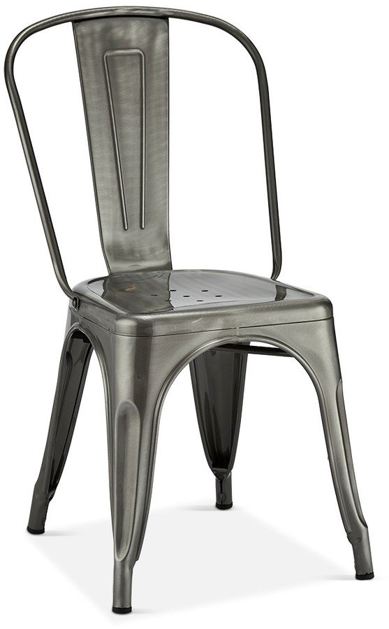 Image of   Islay, Spisebordsstol, Lakeret stål by Raymond & Hallmark (H: 85 cm. B: 43 cm., Sølv)