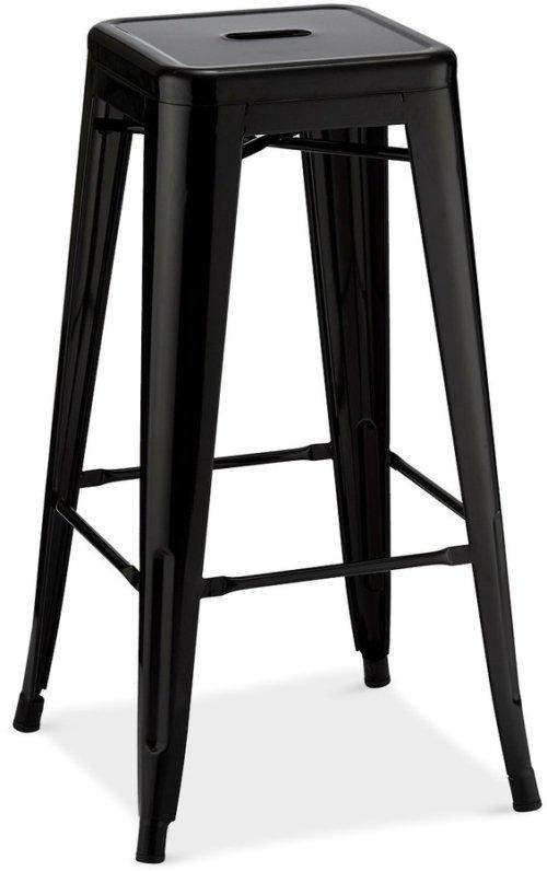 På billedet ser du variationen Islay, Barstol, Lakeret stål fra brandet Raymond & Hallmark i en størrelse H: 76 cm. B: 43 cm. i farven Sort