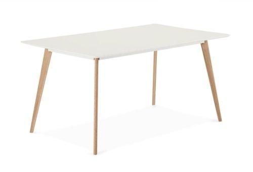 På billedet ser du variationen Lane, Spisebord, Firkantet fra brandet Raymond & Hallmark i en størrelse H: 75 cm. B: 90 cm. L: 160 cm. i farven Hvid