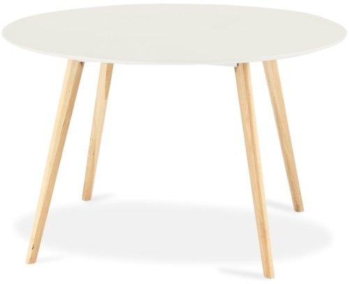 På billedet ser du variationen Lane, Spisebord, Rundt fra brandet Raymond & Hallmark i en størrelse H: 75 cm. B: 120 cm. L: 120 cm. i farven Hvid
