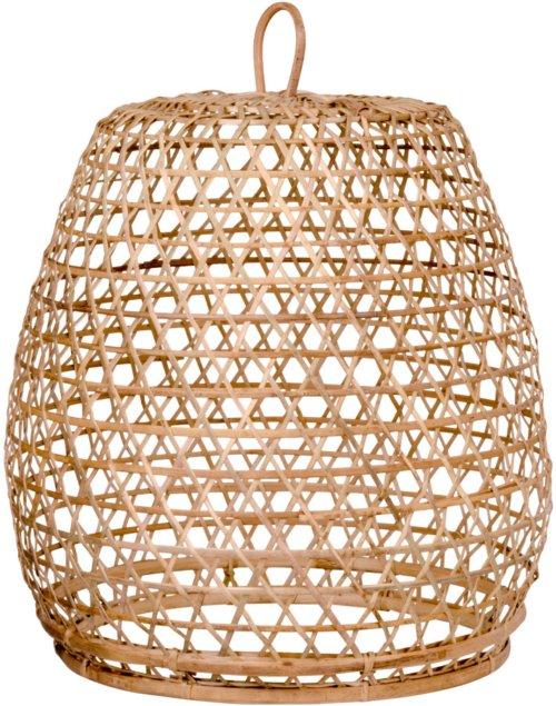 På billedet ser du variationen Lissabon, Rattan lampe fra brandet Nordby i en størrelse H: 40 cm. B: 30 cm. L: 30 cm. i farven Natur
