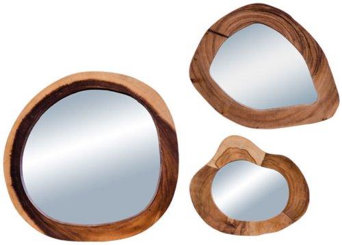 På billedet ser du variationen Madrid, Teak spejl fra brandet Nordby i en størrelse H: 5 cm. B: 43 cm. L: 43 cm. i farven Glas/Natur