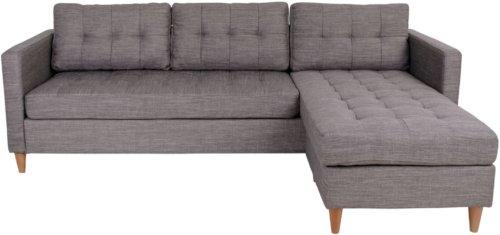 På billedet ser du variationen Sahl, Sofa fra brandet Nordby i en størrelse H: 80 cm. B: 219 cm. L: 151 cm. i farven Lysegrå