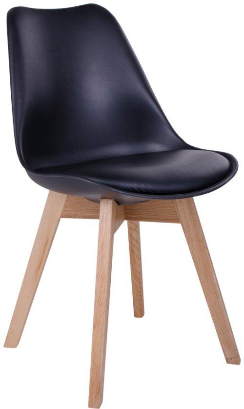 På billedet ser du variationen Godthåb, Spisebordsstol fra brandet House Nordic i en størrelse H: 87 cm. B: 48 cm. L: 55 cm. i farven Sort/Natur