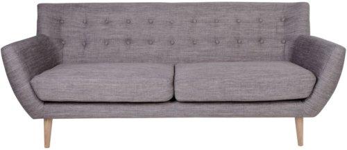 På billedet ser du variationen Hasmark, 3 personers sofa fra brandet Nordby i en størrelse H: 79 cm. B: 180 cm. L: 76 cm. i farven Lysegrå
