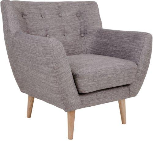 På billedet ser du variationen Hasmark, Lænestol fra brandet House Nordic i en størrelse H: 79 cm. B: 81 cm. L: 76 cm. i farven Lysegrå