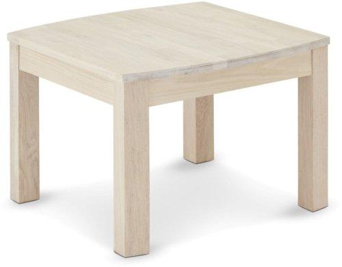 På billedet ser du variationen Seaham, Hjørnebord, Egetræ fra brandet Raymond & Hallmark i en størrelse H: 52 cm. B: 70 cm. i farven Hvidolieret