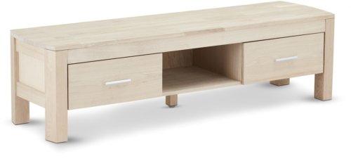 På billedet ser du variationen Seaham, TV-bord, Egetræ fra brandet Raymond & Hallmark i en størrelse H: 40 cm. B: 150 cm. i farven Hvidolieret