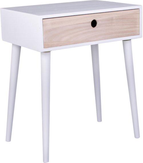 På billedet ser du variationen Parma, Sengebord fra brandet Nordby i en størrelse H: 54,5 cm. B: 34 cm. L: 45 cm. i farven Hvid/Natur