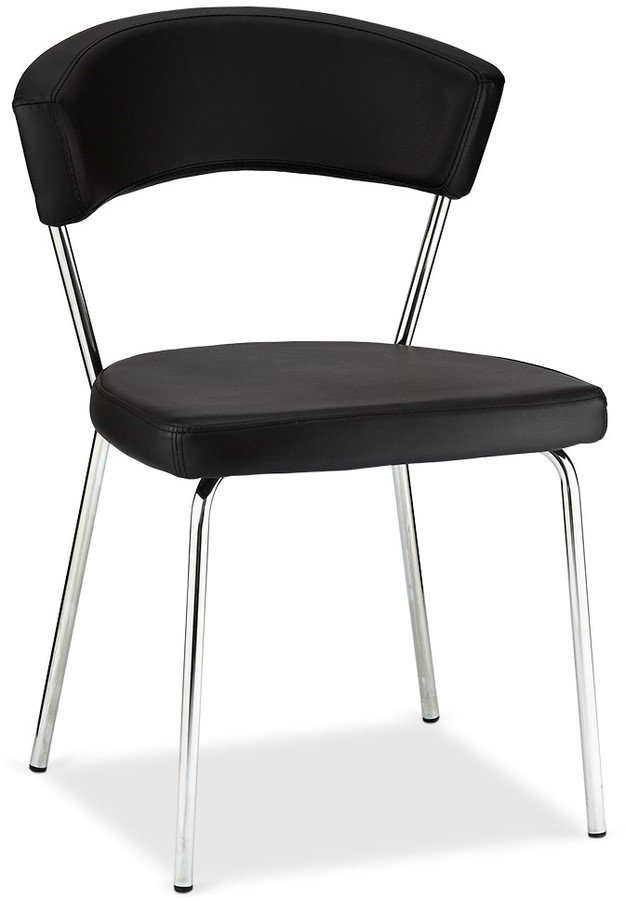 Gordon, Spisebordsstol, PU-læder by Raymond & Hallmark (H: 81 cm. B: 56 cm., Sort)