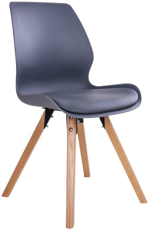 På billedet ser du variationen Kongerslev, Spisebordsstol fra brandet House Nordic i en størrelse H: 88 cm. B: 48 cm. L: 52 cm. i farven Grå/Natur