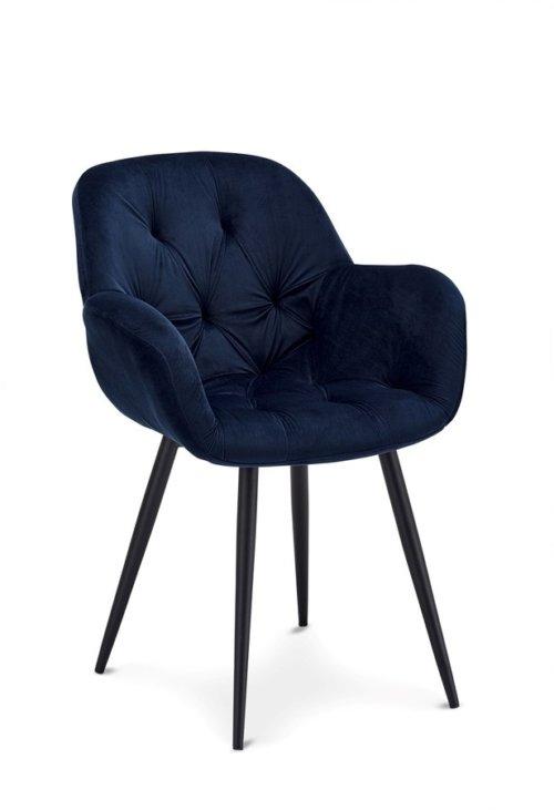 På billedet ser du variationen Gifford, Spisebordsstol fra brandet Raymond & Hallmark i en størrelse H: 88 cm. B: 66 cm. i farven Blå