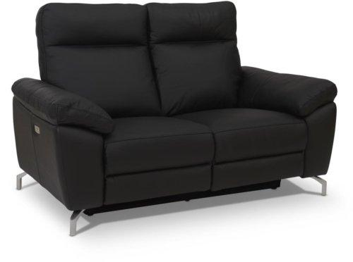 På billedet ser du variationen Edinburgh, Sofa, Læder fra brandet Raymond & Hallmark i en størrelse H: 101 cm. B: 162 cm. i farven Sort
