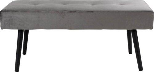 På billedet ser du variationen Lørslev, Bænk med velour fra brandet Nordby i en størrelse H: 44 cm. B: 100 cm. L: 35 cm. i farven Grå
