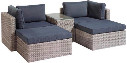 På billedet ser du variationen Sofasæt, Loungesæt, Goltoft fra brandet House Nordic i en størrelse H: 65 cm. B: 158 cm. L: 190 cm. i farven Grå/Marine