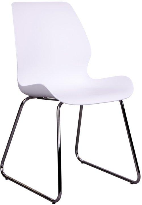 På billedet ser du variationen Dokkedal, Spisebordsstol fra brandet Nordby i en størrelse H: 86 cm. B: 48 cm. L: 55 cm. i farven Hvid/Chrome