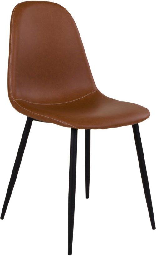 På billedet ser du variationen Havndal, Spisebordsstol fra brandet Nordby i en størrelse H: 88 cm. B: 47 cm. L: 50 cm. i farven Lysebrun/Sort