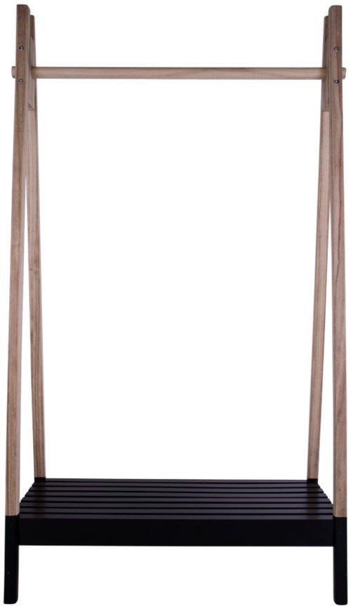 På billedet ser du variationen Torino, Tøjstativ fra brandet House Nordic i en størrelse H: 170 cm. B: 39 cm. L: 94,5 cm. i farven Natur/Sort