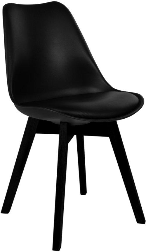 På billedet ser du variationen Egensø, Spisebordsstol fra brandet House Nordic i en størrelse H: 87 cm. B: 48 cm. L: 55 cm. i farven Sort